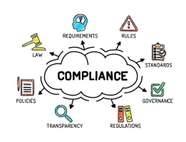 Clipart of elements of compliance and controls